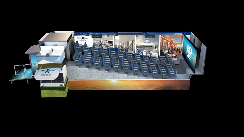 Interior rendering of the new 'Leading Edge Mobile Cinema Tour.'