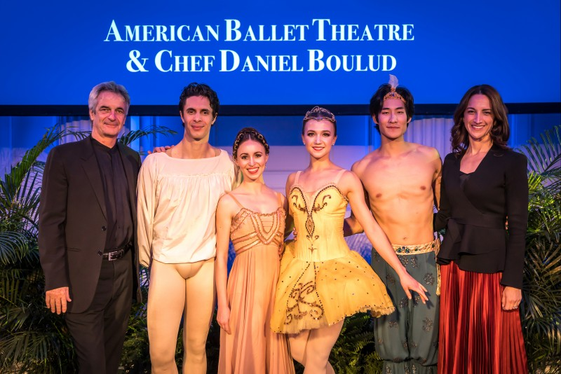 Left to Right: American Ballet Theatre's Artistic Director, Kevin McKenzie, Soloists Skylar Brandt, Alexandre Hammoudi, Katherine Williams, Joo Won Ahn and Executive Director Kara Barnett