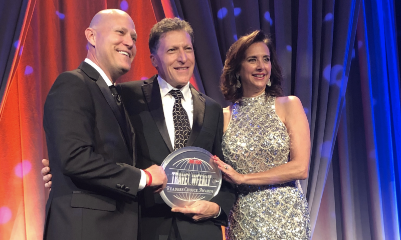 It may be time for Celebrity Cruises to order a larger trophy cabinet, as the modern luxury brand claimed five of the top honors at the 2019 Travel Weekly Readers' Choice Awards last night, December 12, 2019.
