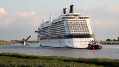 A Big Step Forward for Celebrity Silhouette: Traveling Backwards Down the River Ems